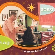 Postcard Design for Shag Hair Salon