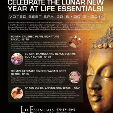 Lunar New Year Ad Design for Life Essentials Day Spa