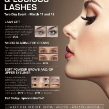 Brow Wow Flyer Design for Life Essentials Day Spa