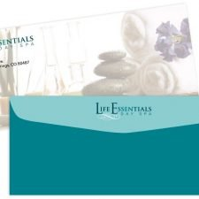 Envelope Design for Life Essentials Day Spa