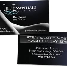 Business Card Design for Life Essentials