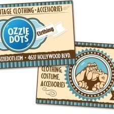 Ozzie Dots Business Card Design