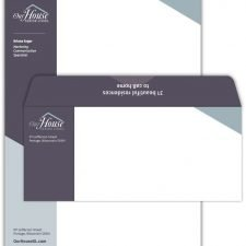 Letterhead and Envelope Design for Our House Senior Living