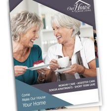 8-page Die-cut Brochure Design for Our House Senior Living