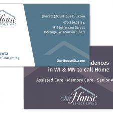 Business Card Design for Our House Senior Living