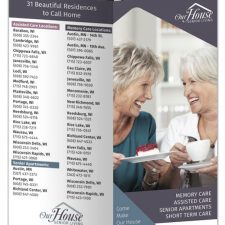 4-page Gate-fold Brochure Design for Our House Senior LIving