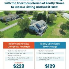 DroneView Flyer Design for Realty Times