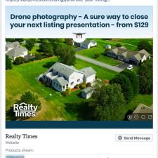 DroneView Facebook Ad Design for RealtyTimes