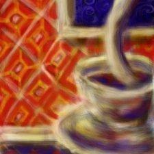 Red Swirl Glass 2-5-2010