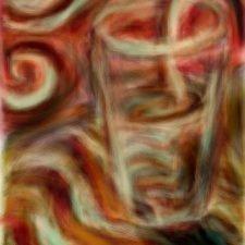 Red Swirl Glass