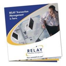 Square Brochure Design for Relay
