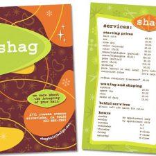 Brochure Design for Shag Hair Salon