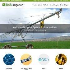 B and B Irrigation Website Design