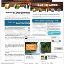 Email, Facebook Ad, LinkedIn Ad, and Landing Page for B and G International