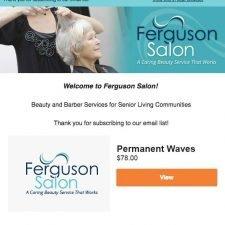 Ferguson Salon Email Design