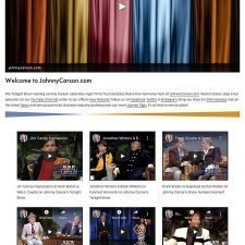 the Tonight show with Johnny Carson website design