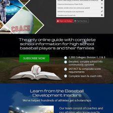 On the Radar Baseball Website Design