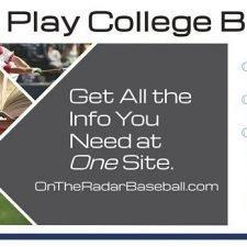 On The Radar Baseball Banner Design