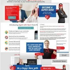 Email, Facebook Ad, Web banner and Landing Page fro PinRaise Agents
