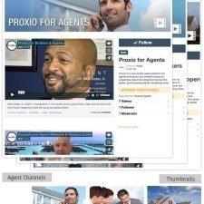 Proxio Vimeo page design