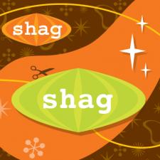 Sticker Design for Shag Hair Salon