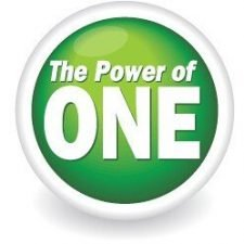 Power of One Logo Design for Instanet Solutions