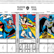 The DC Universe Window Design for 57th st. New York