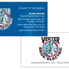 Veeter Business Card Design