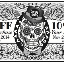 Dia de Los Muertos Coupon Design