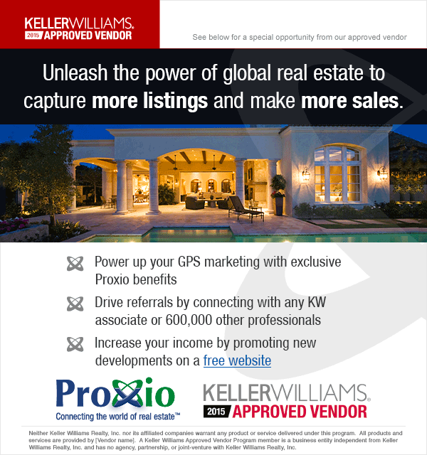 Email Design for Keller Williams and Proxio