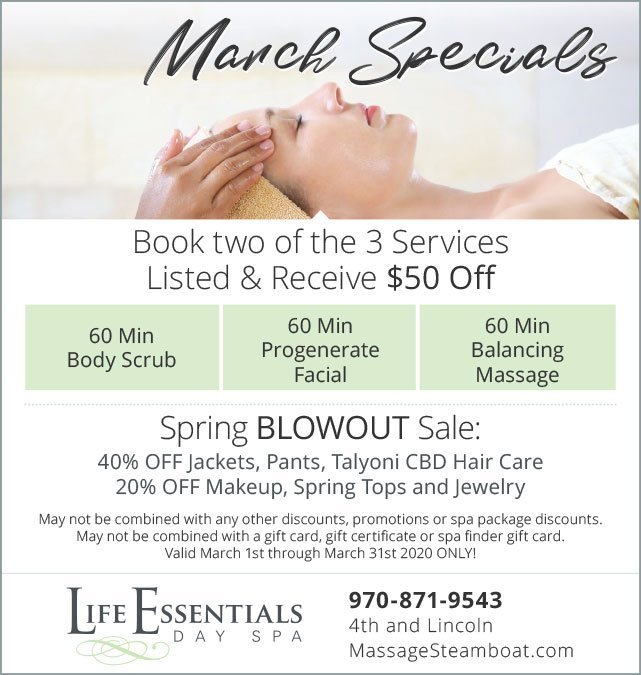 March Specials Ad Design for LE