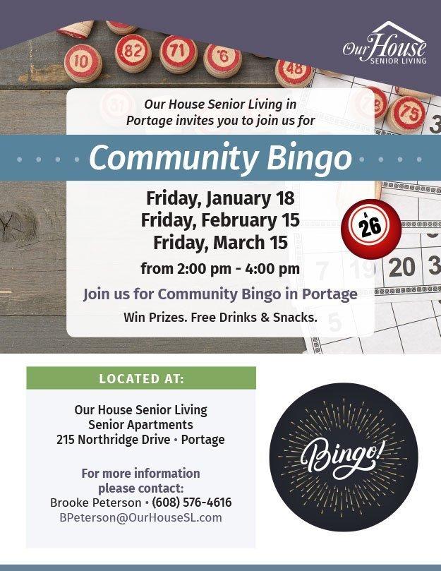 OHSL Event Flyer for Bingo