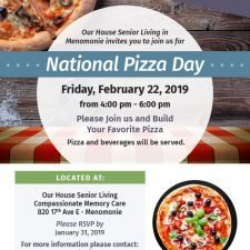 OHSL Event Flyer for National Pizza Day