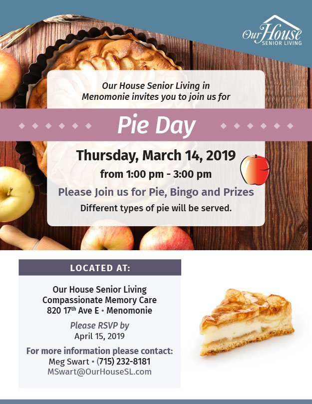 OHSL Event Flyer for National Pie Day