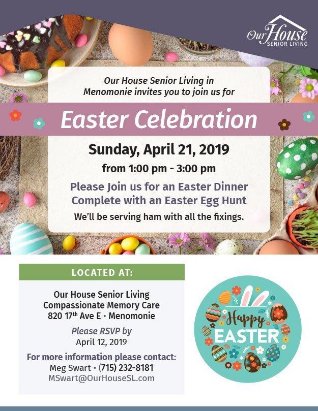 OHSL Event Flyer for Easter