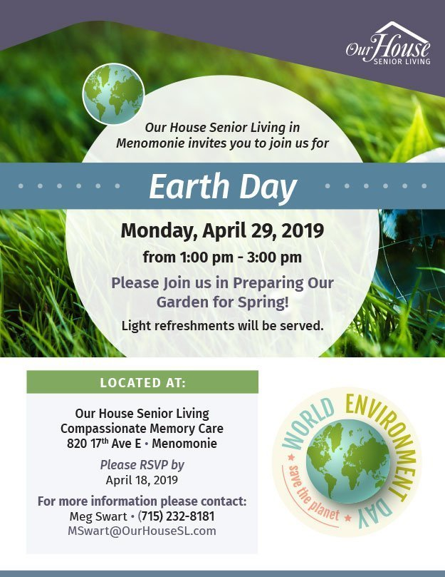 OHSL Event Flyer for Earth Day