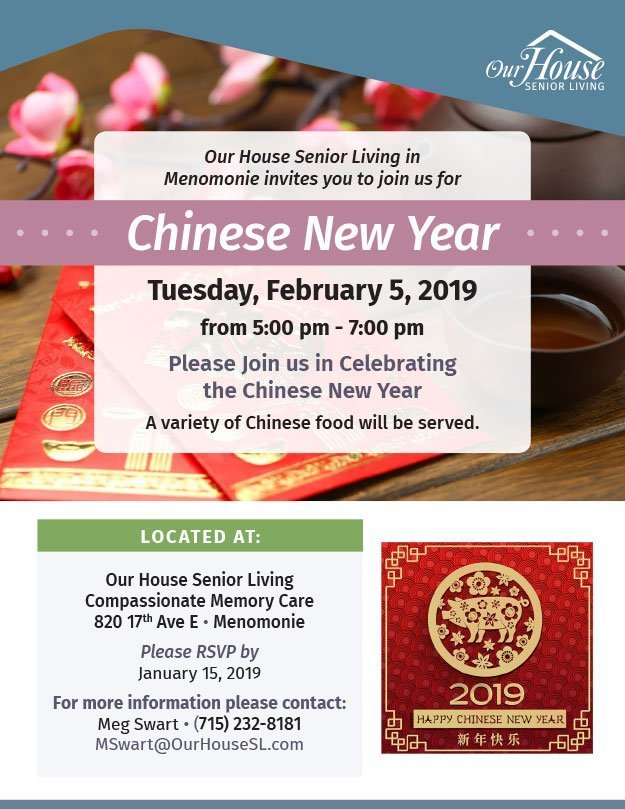 OHSL Event Flyer for Chinese New Year