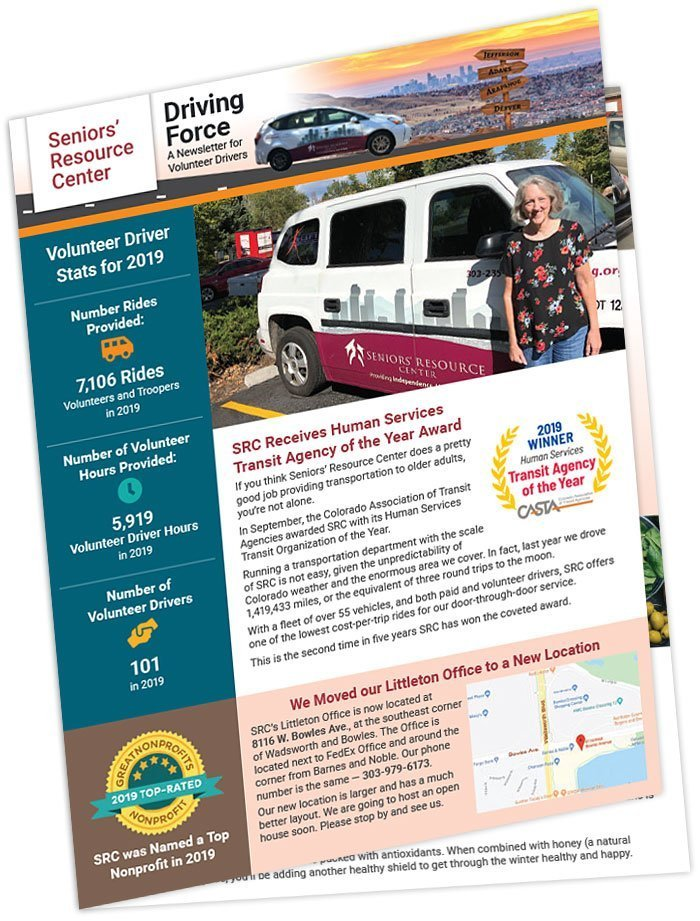 Driving Force Newsletter Design