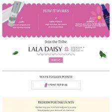 La La Daisy My Rewards Page Design