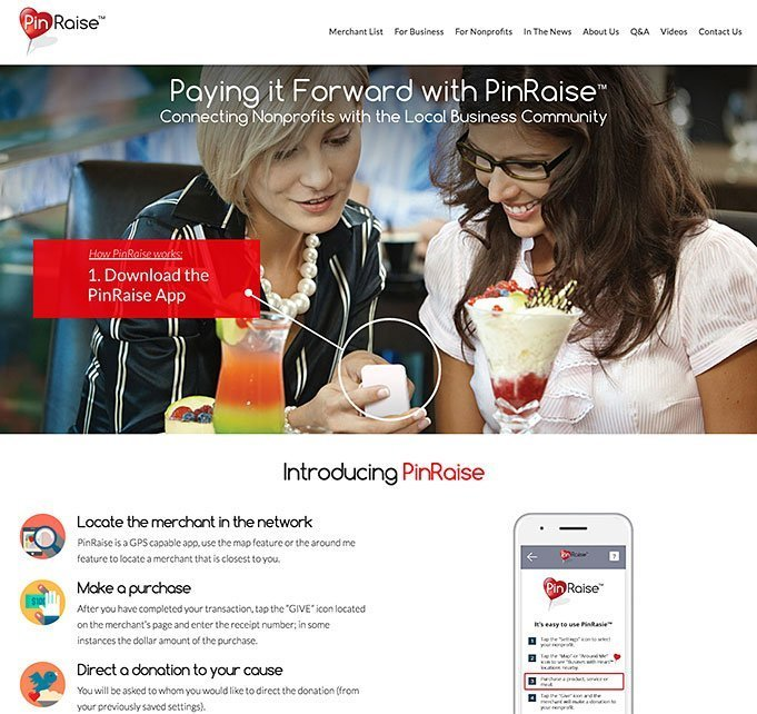 PinRaise Web Design