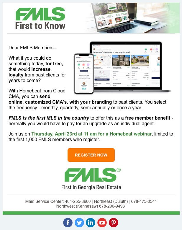 First to Know FMLS Email Design