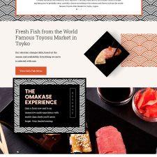 Tahk Omakase website design
