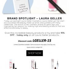 Laura Geller Email Design