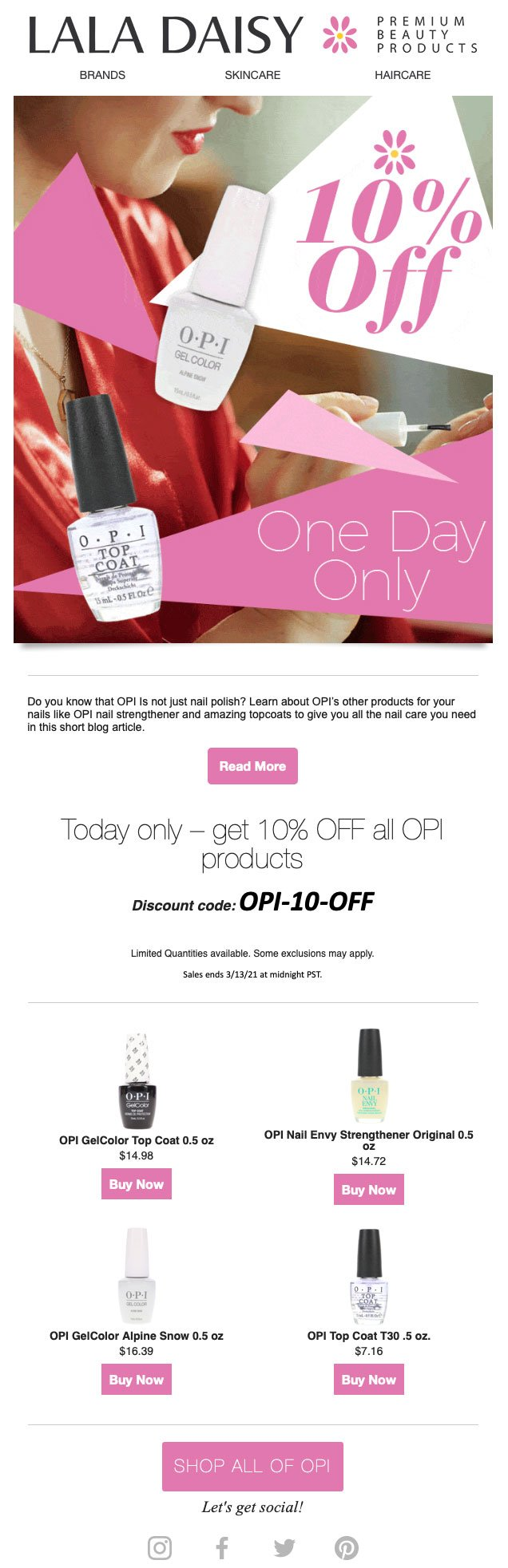 OPI Products Email Design