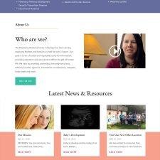 Pregnancy Resource Center website design
