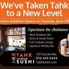 Tahk Omakasi Sushi Ad Design