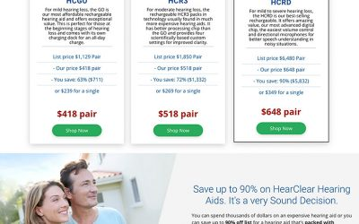 Shopify Site for Advanced Affordable Hearing